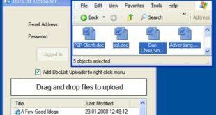 Google Docs Uploader, subiendo archivos desde Windows