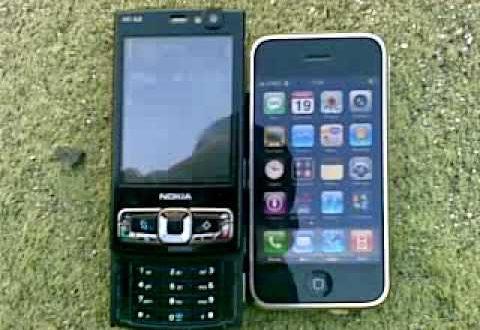 Nokia N95 8GB vs Iphone vs HTC TyTN II o 3600