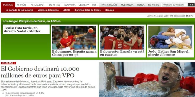 Nuevo rediseño de ABC.es