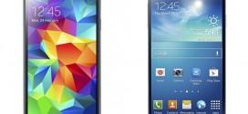 Comparativa del Samsung Galaxy S5 con el Galaxy Samsung S4