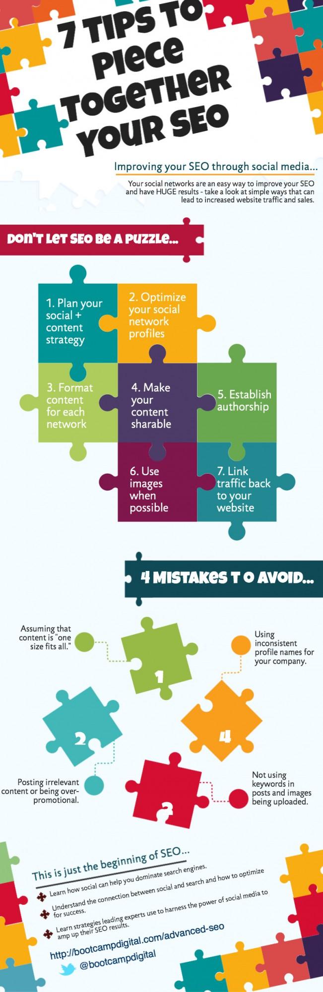infografia seo y redes sociales consejos