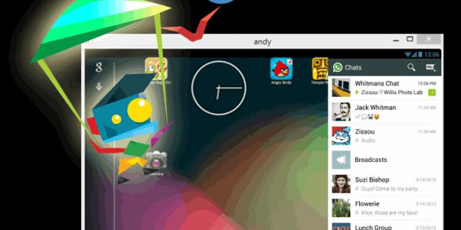 Andy, el mejor emulador para tener Android en Windows XP, 7, 8 y Mac