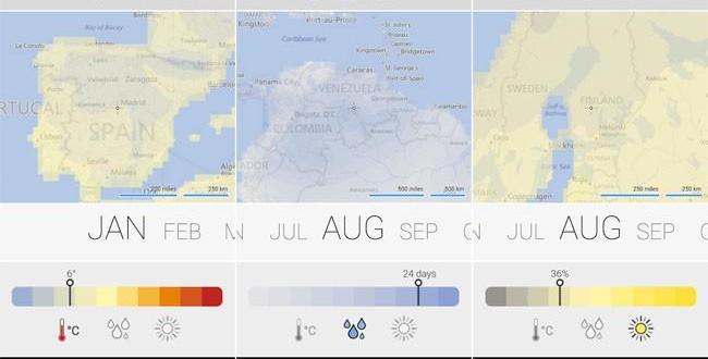 Climatology, la previsión del tiempo de Microsoft