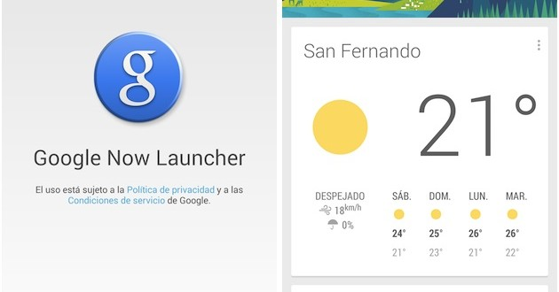Descargar Google Now launcher