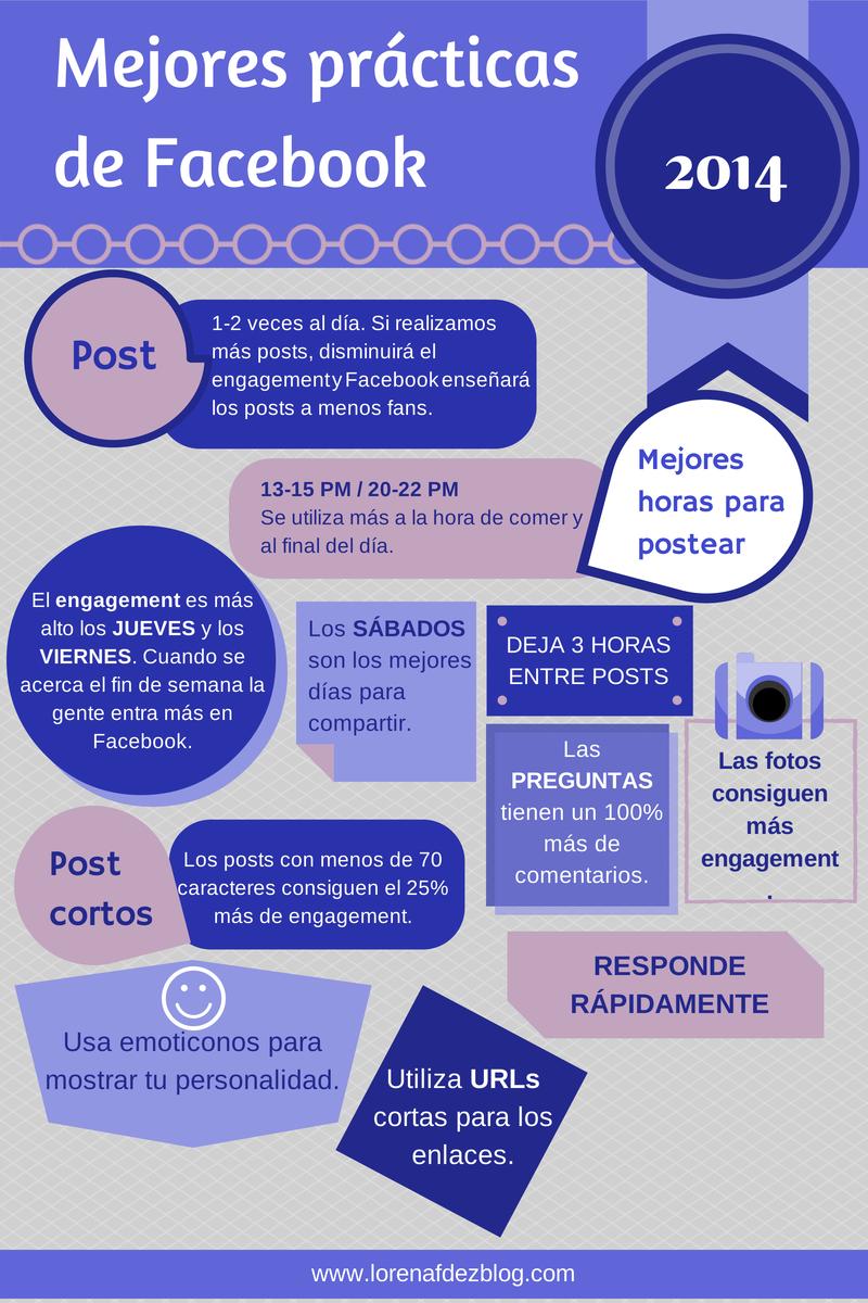 Las mejores practicas en Facebook #socialmedia  #infografia