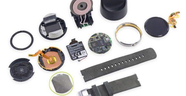 El Moto 360 desarmado por iFixit