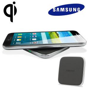 Carga inalámbrica de Samsung S5. Base de carga y funda de carga inalámbrica S-View Cover Galaxy S5