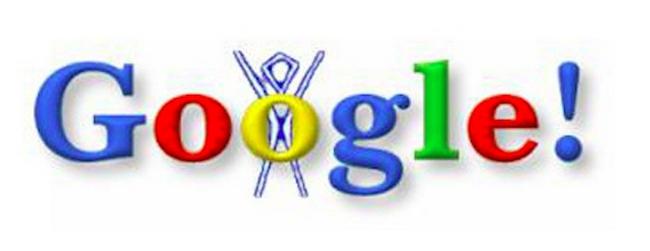 Primer doodle de Google. historia de Google