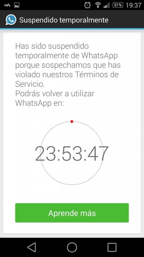 Whatsapp bloquea cuentas que usan Whatsapp+