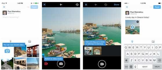 Twitter permite grupos y grabación de vídeo en su aplicación
