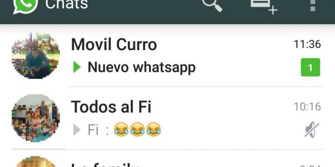 Nuevo WhatsApp 2.11.498 con Material Design