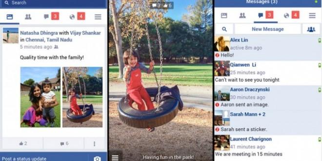 Facebook lite la aplicación para móviles y conexiones lentas