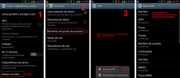 APN para tu Android. Solución tu smartphone no se conecta a Internet