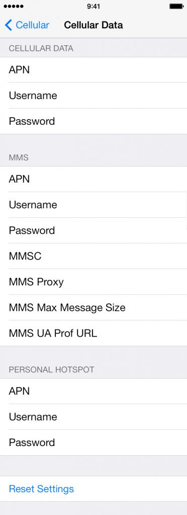 APN para tu iOS iPhone iPad. Solución tu smartphone no se conecta a Internet
