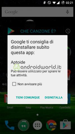 Riesgo Aptoide según Google