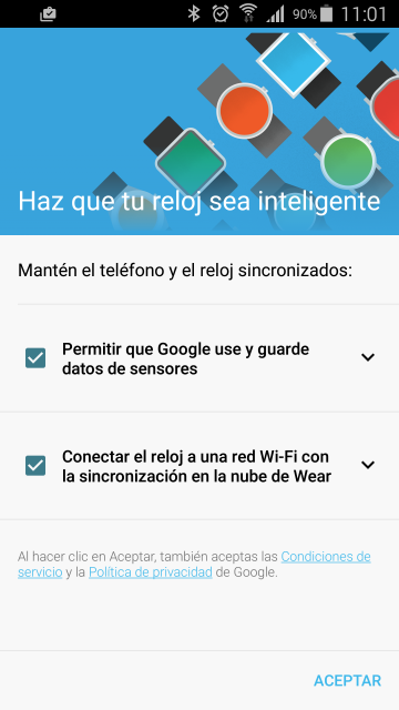 Actualización Android Wear