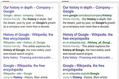 Google cambia la interfaz de búsquedas móviles