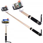 Bluetooth Wireless Self Timer Stretch Aluminium Alloy Camera Monopod with Phone Clip Stand
