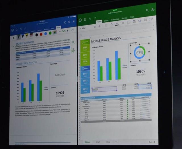 apple microsoft office multiventana en ipad Pro