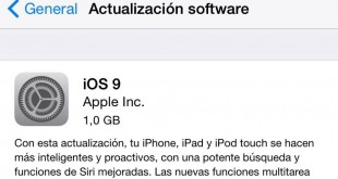 ¿Cómo instalar IOS 9?