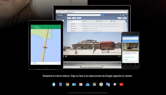 ¿Eres friki?.Personaliza Google con Star Wars. Todas las apps de Google como Gmail, Youtube, Google Maps y Chrome