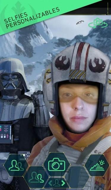 Selfies aplicación Star Wars para Android