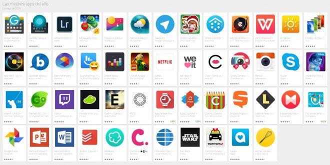 Las mejores Aplicaciones Android de 2015 y 2016 según Google