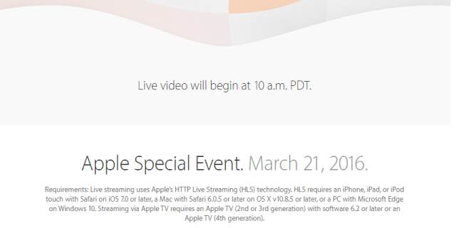 Directo Keynote de Apple 2016