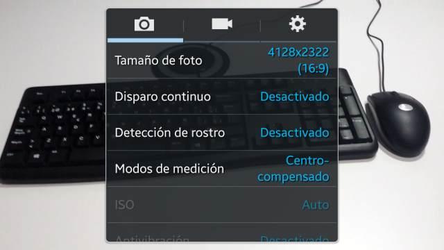 Paso 5 Hacer otra vez Click en la rueda dentada de ajustes de la cámara de Samsung Galaxy