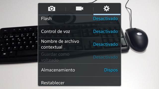 Paso 5.1 Buscar almacenamiento en el menú de la cámara de Samsung Galaxy