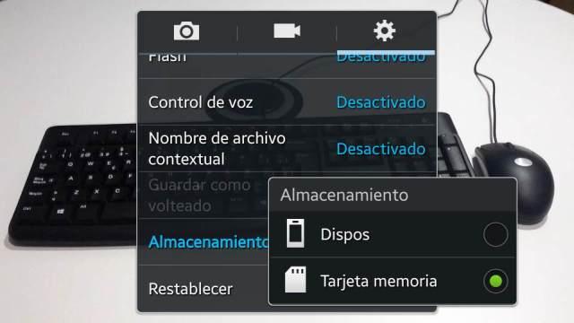 Paso 6 Elegir Alamcenamiento Tarjeta de memoria en el Samsung Galaxy