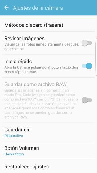 Paso 3 Tutorial Cómo guardar las fotos de la cámara en la microSD en los Samsung Galaxy S/ Android 6.0