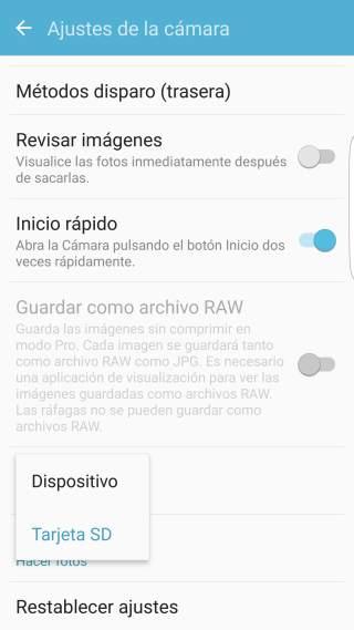 Paso 3.1 tutorial Cómo guardar las fotos de la cámara en la microSD en los Samsung Galaxy S/ Android 6.0
