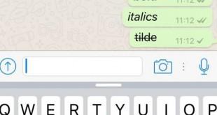 Cómo usar Whatsapp con negritas, cursivas o tachado