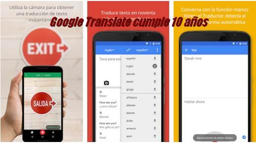 Google Translate cumple 10 años