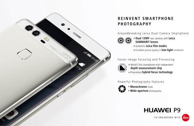 Huawei P9 el primer smartphone del mundo con cámara dual Leica