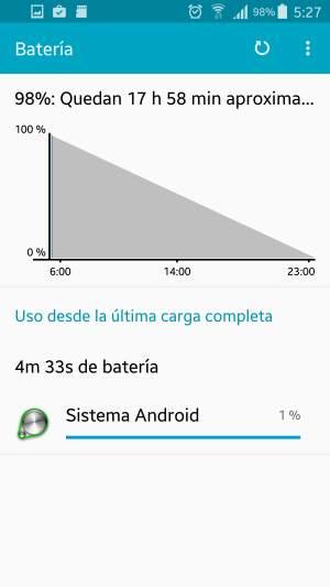 duración de la batería en Android 6.0