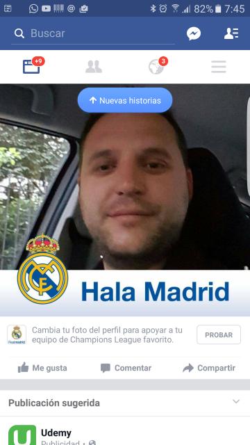 Facebook pone marcos de imágenes de perfil para celebrar la final de la Champions League