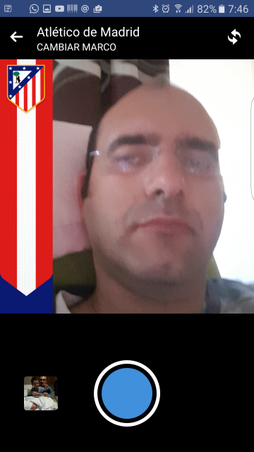Facebook pon el escudo del Atlético