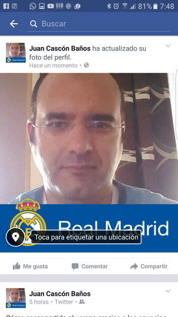Facebook pon el escudo del Real Madrid