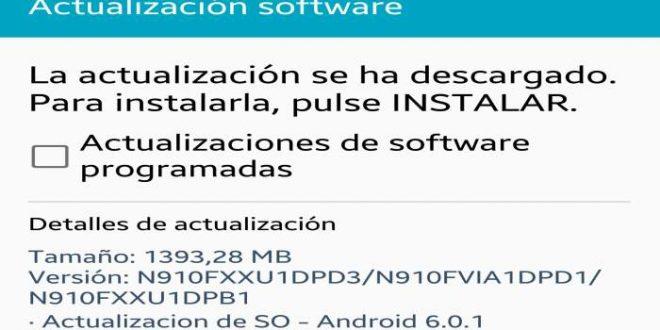 Cómo actualizar el Samsung Galaxy Note 4 a Android 6.0.1 Firmware SM-N910F / N910FXXU1DPD3
