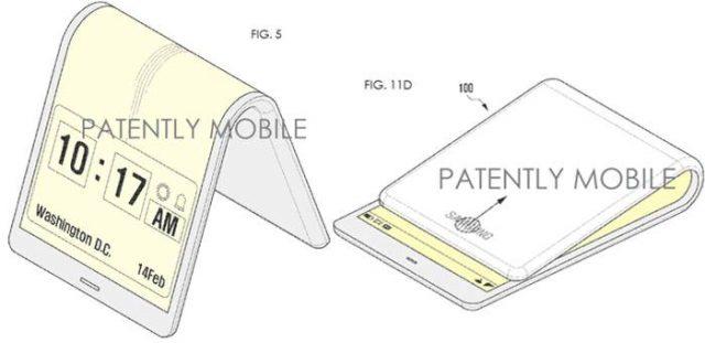 patente apertura Galaxy X, el móvil plegable de Samsung para el 2017