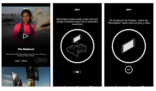 App más innovadora, el premio ha sido para NYT VR - Virtual Reality