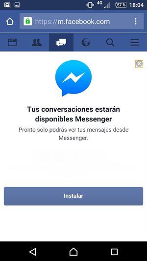 Facebook obligará a los usuarios de Android a descargar Messenger si quieren chatear