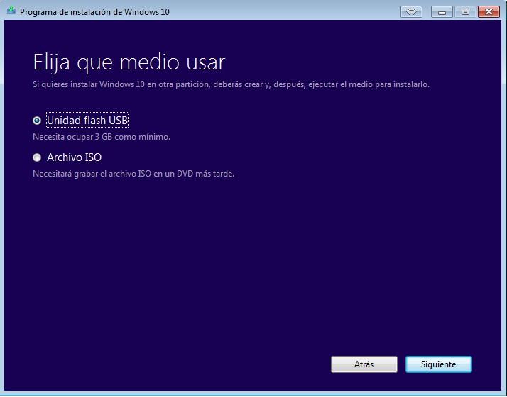 ¿Cómo actualizar o instalar Windows 10 desde un DVD o USB? Herramienta de creación de medios de Microsoft paso 4