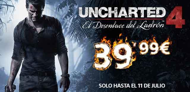 Uncharted 4 El Desenlace del Ladrón baja de precio