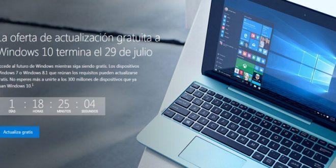 ¿Cómo actualizar Windows 10 gratis? Termina el plazo