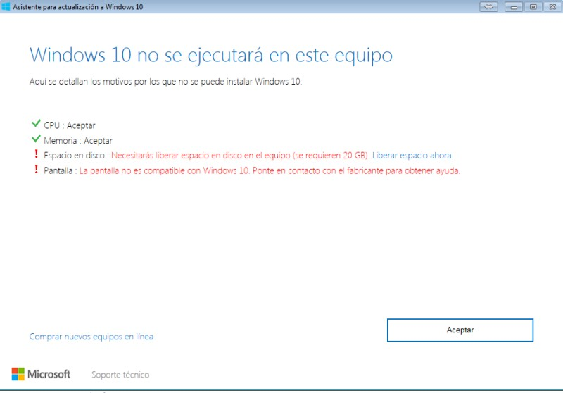 ¿Cómo actualizar o instalar Windows 10 en tu PC con el el lanzador Windows 10 Upgrade? paso 3