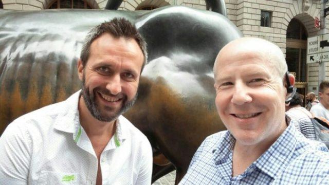 Javier Cámara y Matt Sweetwood en Nueva York