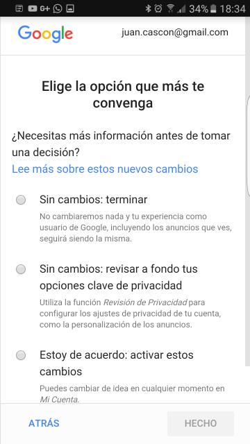 Tú gestionas qué tipo de información das a google con Mi Cuenta(myaccount.google.com).